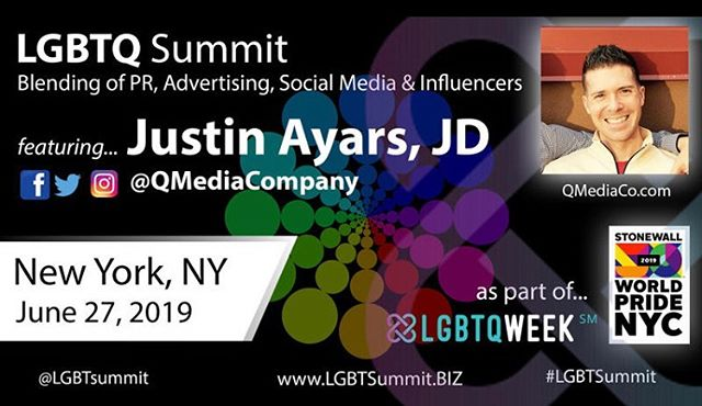 ‪So after an amazing week in Vegas being a part of a ne #liberace documentary, I'm off to NYC to represent @qmediacompany for #worldpride2019 !! I have the honor and privilege of speaking at my favorite conference, #lgbtweeknyc !! I look forward to seeing all of my colleagues from across the world as we celebrate 50 years of pride!! ‪#lgbtsummit