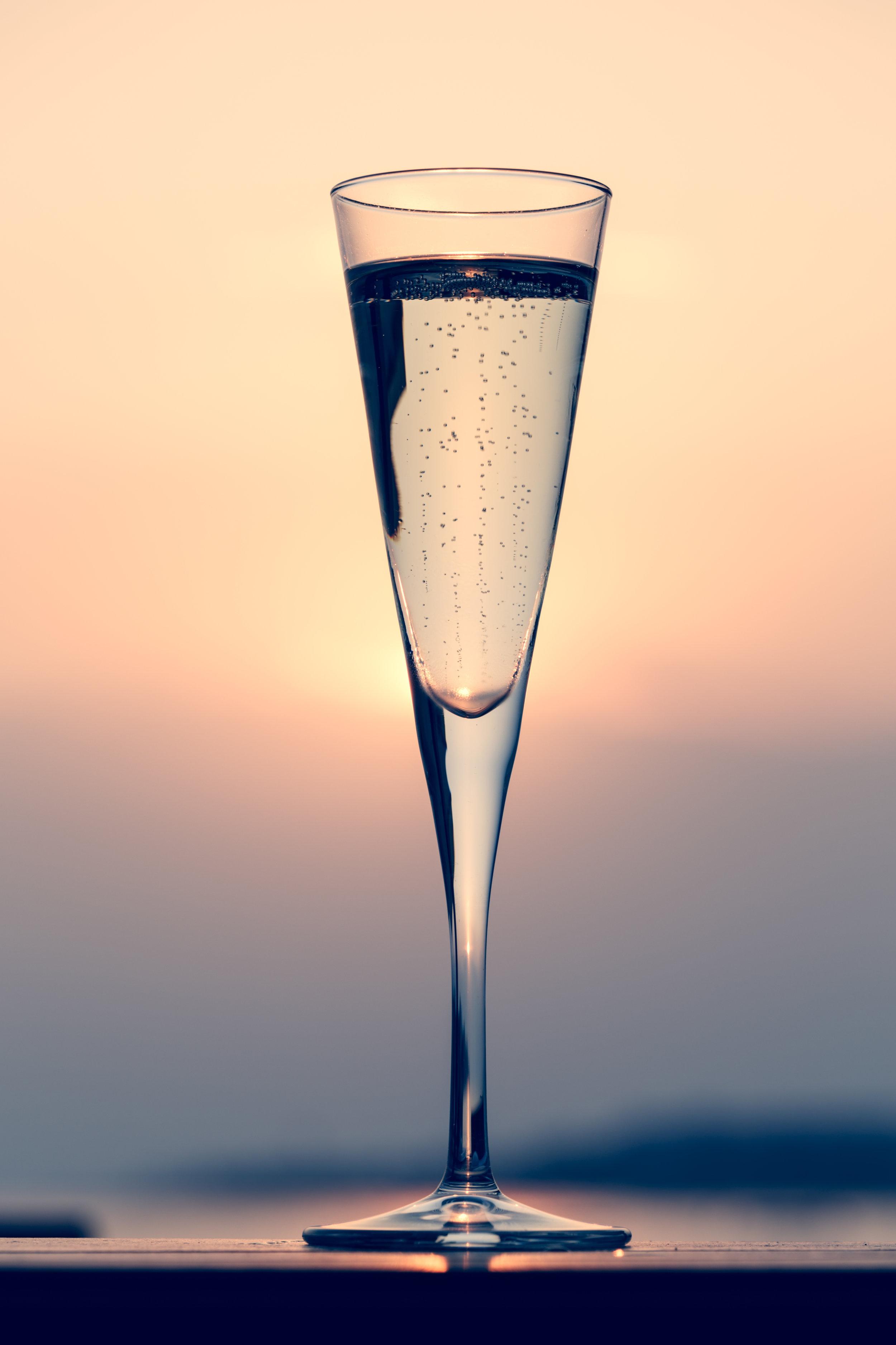St. Louis Bellini - 1 oz. ginger vodka, 1/2 oz. of elderflower liquor, 1 oz. Sauvignon Blanc dry champagne.