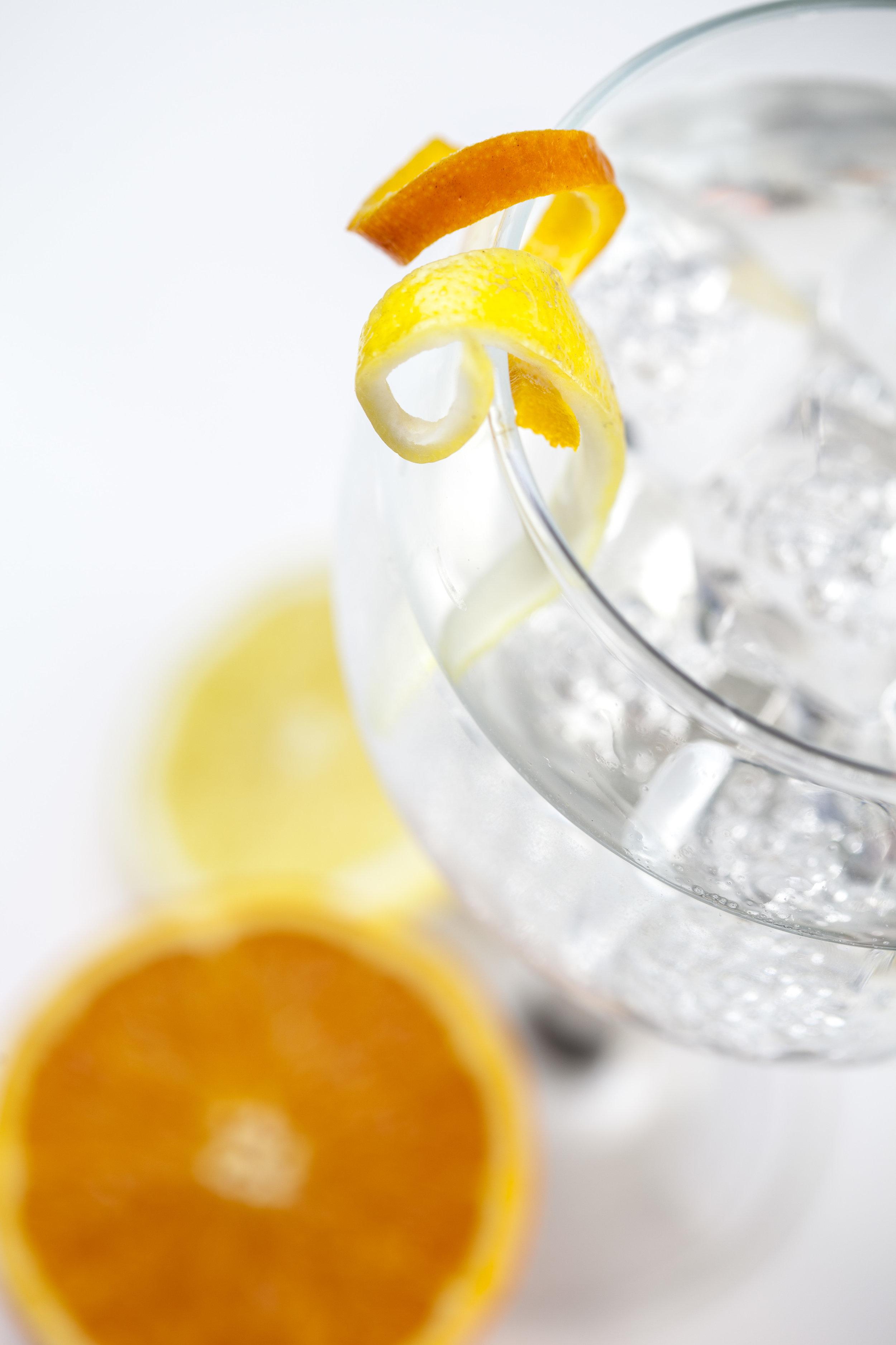 Norwegian Wood - 1 oz. Hayman's Old Tom Gin, 1 oz. Mizu lemongrass shochu, .5 oz. ginger demerara syrup, 2 dashes 1821 Earl Grey bitters lime or lemon and top with   Indi & Co strawberry tonic.
