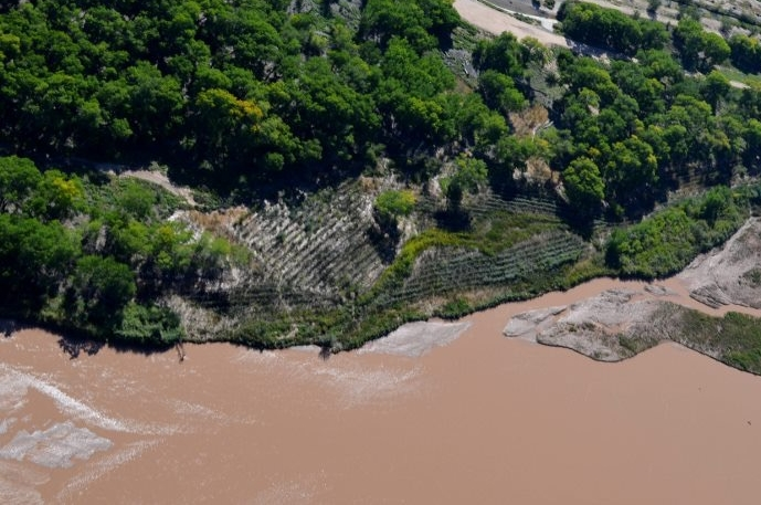 Additional benefits of this project include flood attenuation, as seen from this aerial photo taken in September 2013.