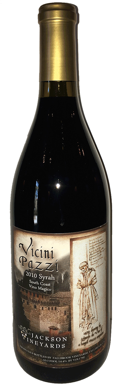 <p><strong>Vicini Pazzi</strong>2010 Syrah</p>