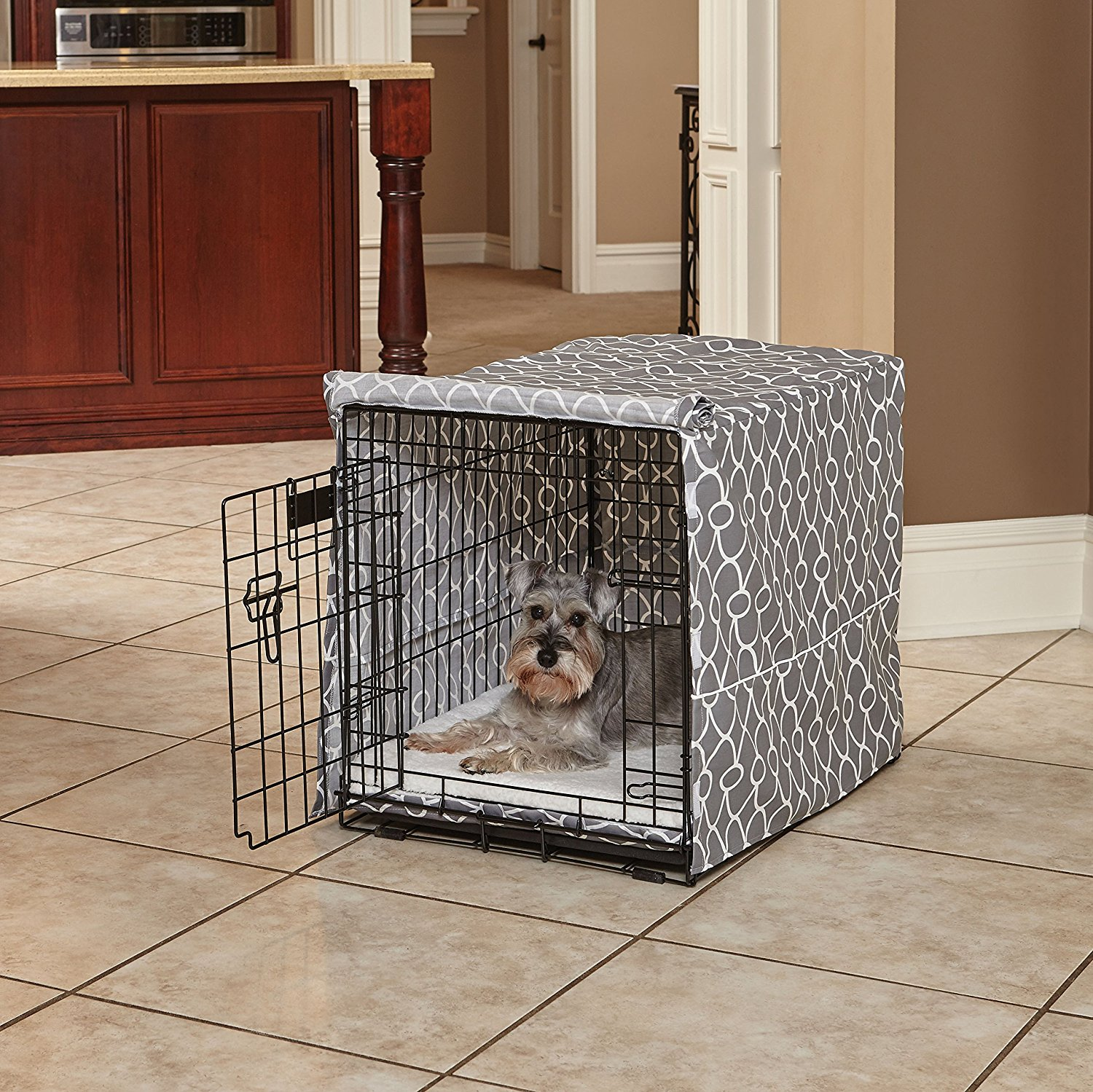 Cockapoo Crate Cover - This isn't a necessity for every dog, but can really help some pups as it can be hard to relax if everything around them is still visible! If you don't have a quiet, separate room in which to place puppy's crate, this is a great option to help them understand it is time to calm down. It makes it very cave-like and helps them relax and rest!https://amzn.to/2MQJlws