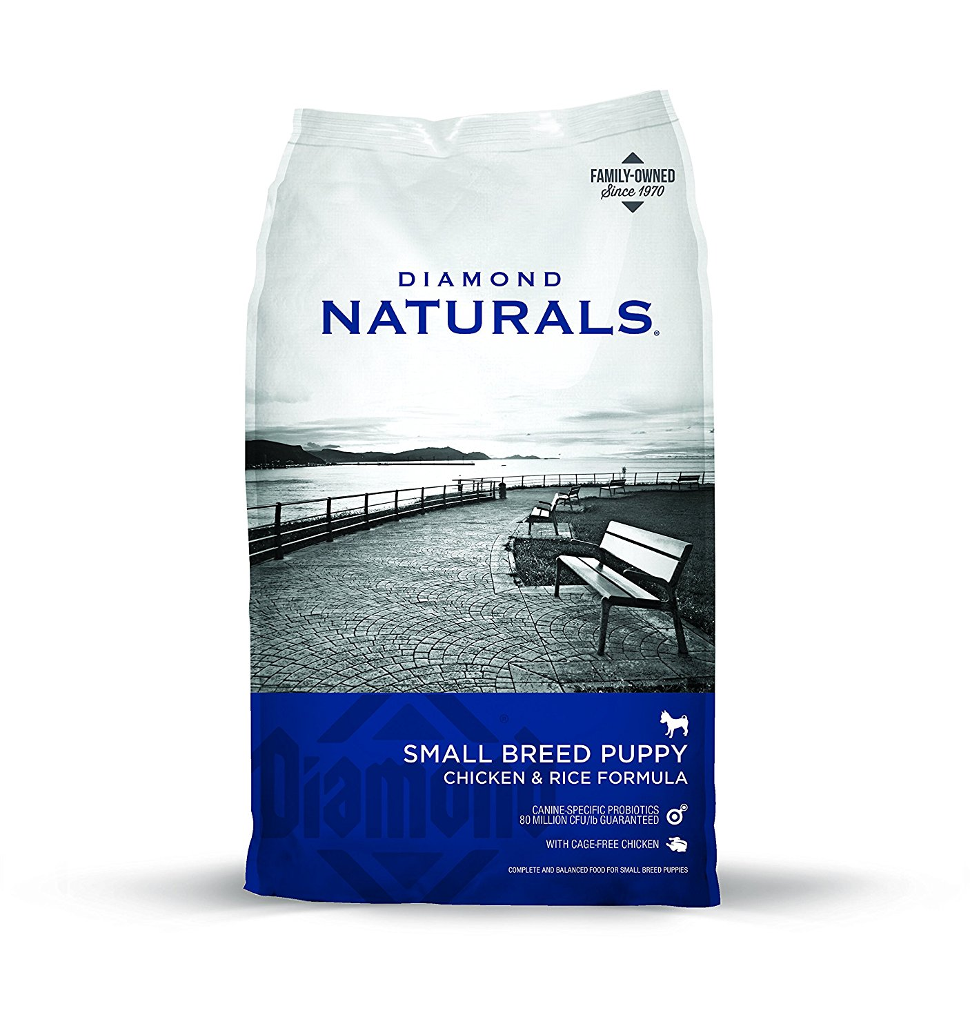 Puppy Food - Our recommended puppy food is Diamond Naturals Small Breed Puppy: Chicken and Rice. Yes.....even our Great Pyrenees get the small breed to start :) Although there are several very good foods out there, we choose this one specifically because of the kibble size. It is very small and easy to eat for puppies just beginning. For that reason, it is what we use to wean them off of mama.We strongly suggest that every puppy we send with his or her new family has at least one bag of this waiting at home. If you decide to switch after that, our feelings aren't hurt at all :) We just recommend that you select a food that at minimum: 1) Has meat as the first ingredient, and 2) Doesn't contain corn, wheat, or soy. We are able to provide a 40 lb bag of this food to our families who are driving to pick puppy up for an added $45 if that works better for you. However, this is not an option for those flying.If/when you do choose to switch foods, make sure you switch over slowly, mixing this food and the new food together for several days before switching totally.https://amzn.to/2Mj2KFd