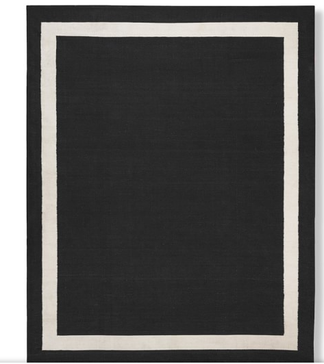 William Sonoma Solid Boarder Outdoor Rug