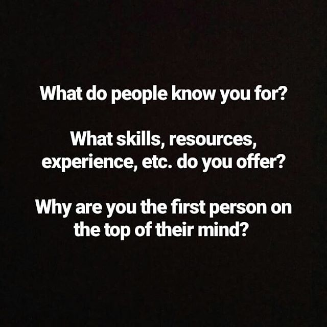 No really, what do people come to you for? 🤔  Folks ask me for project help, coaching/keeping them in task, event promotion, to tap into my network, brainstorming and risk management, project planning, feedback, photography services, problem solving, an active listener, someone who laughs loudly at corny jokes, and so much more.  Do you still want to be known for those things? Do you charge when you offer those skills/resources? Is it fun to provide the services when the opportunity knocks?