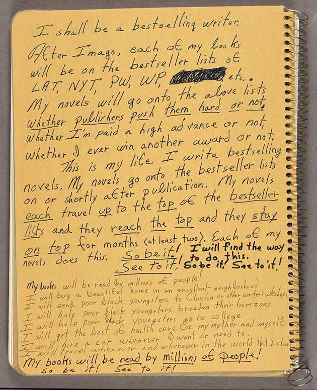 Octavia Butler's Letter to Self