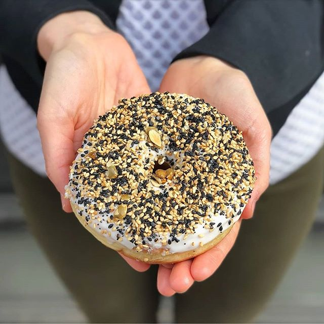 It's my birthday weekend and with just two days left to the big 3-0 I'm bringing you a very special #SaturdayBagels, the everything DOUGHNUT from @thedoughnutproject! . Such a fun twist and unexpectedly delicious! Now off to have some tacos and margs with some of my fav people...