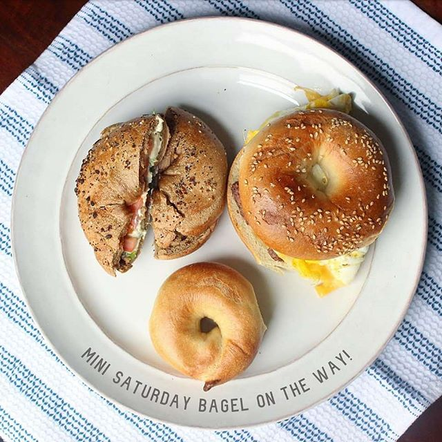 You may have noticed I've been extremely quiet on here these last few weeks (ok...months) but it's for a very good reason...we're expecting! A mini #SaturdayBagels  in the oven! 👶🤰🎉 . First trimester nausea had me all out of sorts which is why you haven't seen many #whatieatwednesday or #mealprep posts from me but I hope to be back at it this week. You haven't heard the last from me 😉