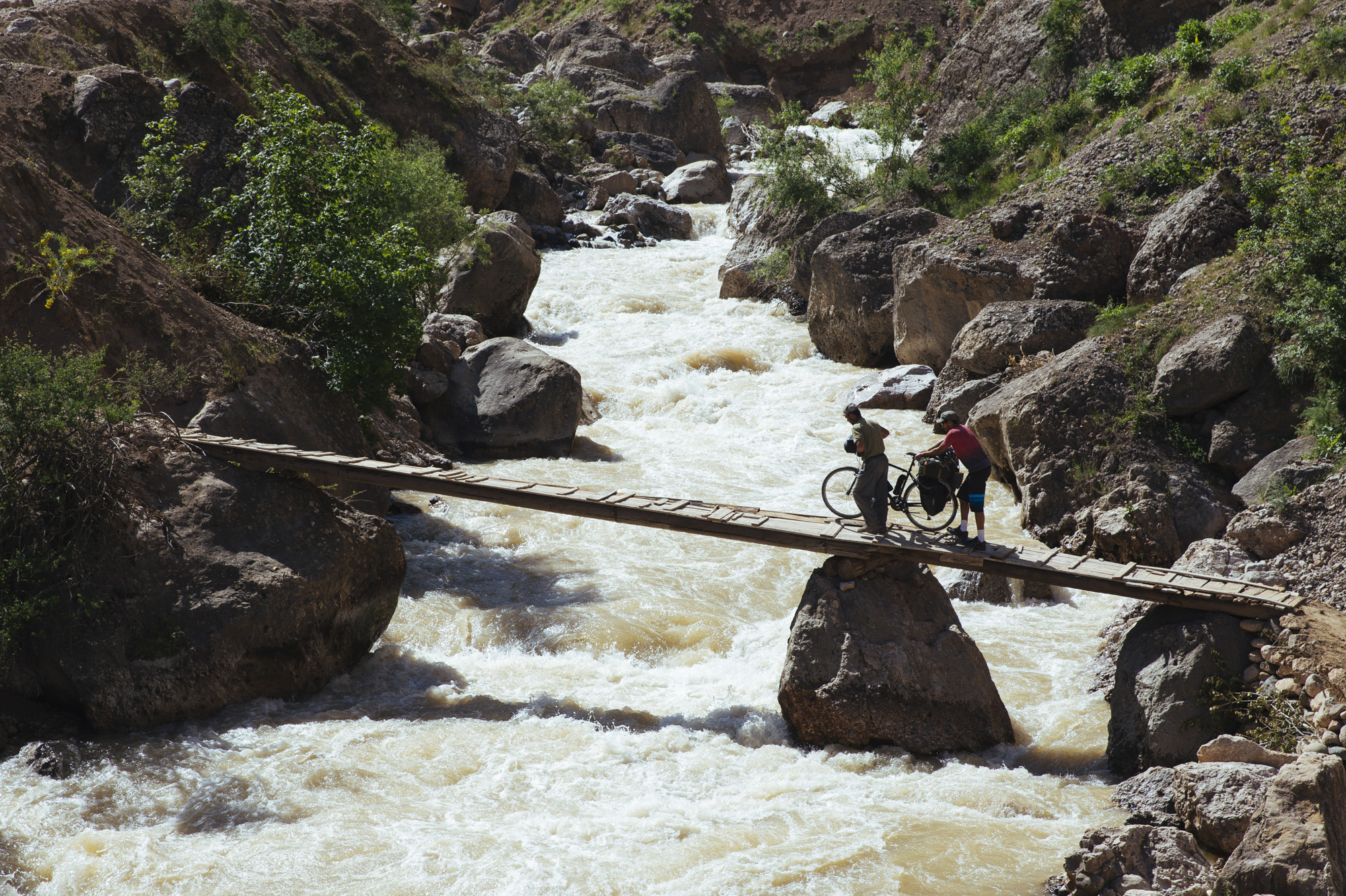 One of the makeshift bridges that allow us to do the northern route to Khorog.