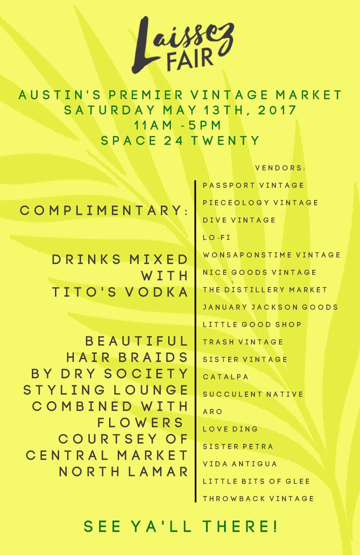 Laissez Fair Spring 2017 Flyer