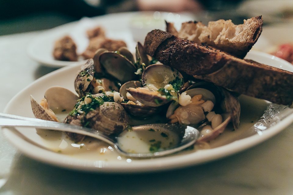The Manila Clams were Belinda's favorite
