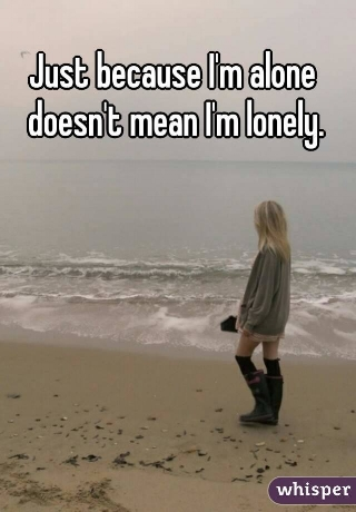 Ok, good for you, but just because I'm lonely doesn't mean I'm alone.
