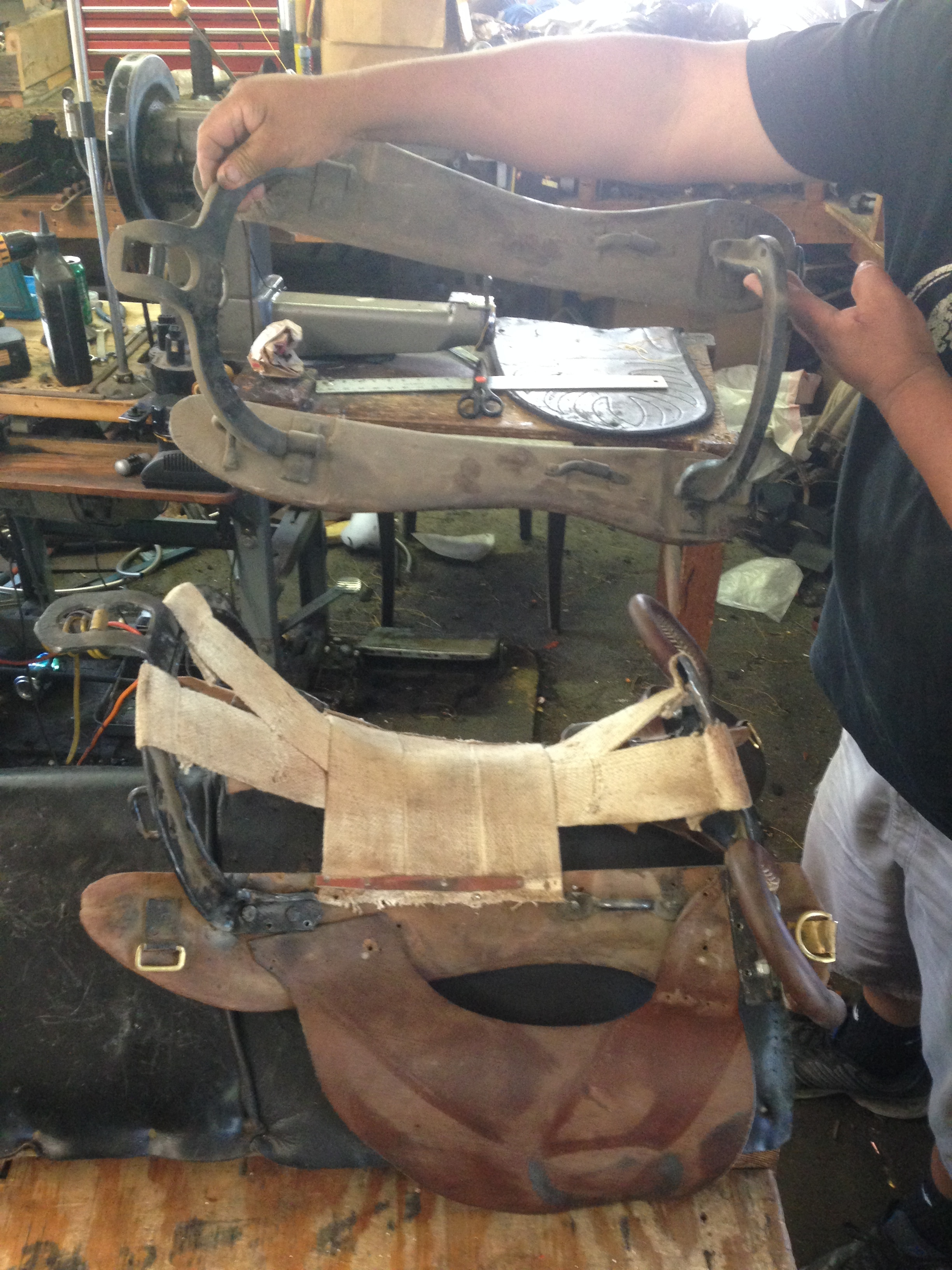 We have rebuilt a tree to replace into a 200 year old military saddle.