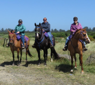 Amy's family all riding in Colin Dangaard Aussie saddles