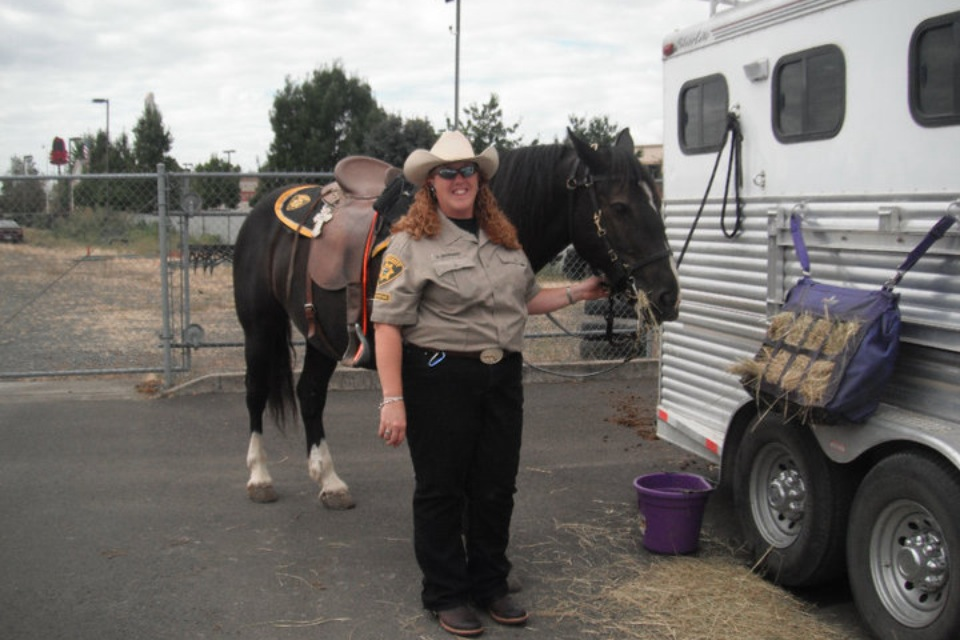 Amy before the Iris Festival parade in Keizer,Oregon