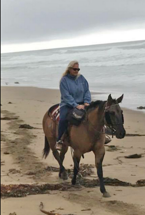 Riding on the beach at Morro Bay, CA