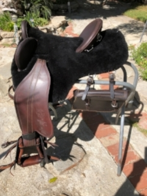 black Colin Dangaard bareback saddle
