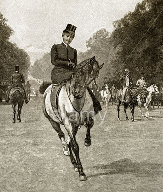 Riding side saddle to The Hunt