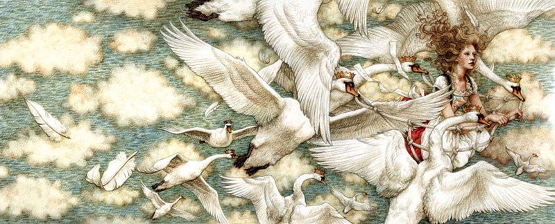 From  The Wild Swans  by Hans Christian Anderson, illustration by Anne Yvonne Gilbert