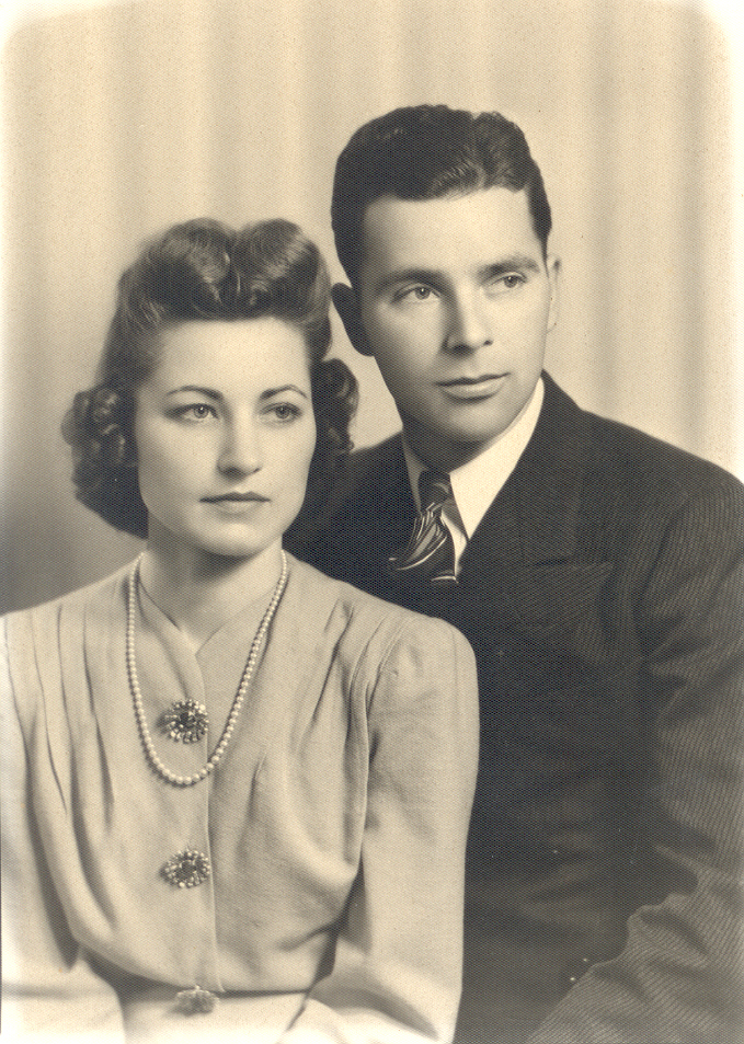 My maternal grandmother, Dolores, with her husband Charles.