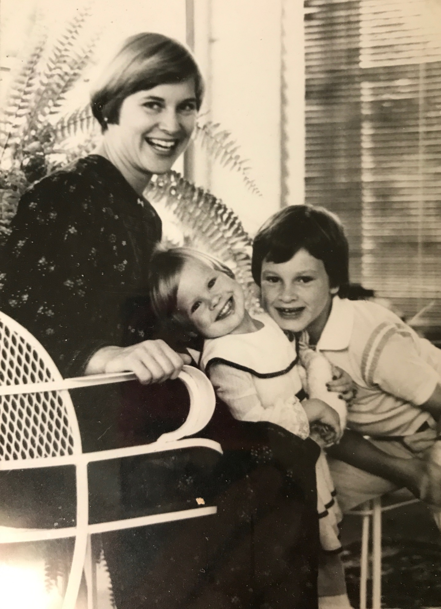 My mother, Susan, with me and my brother Patrick