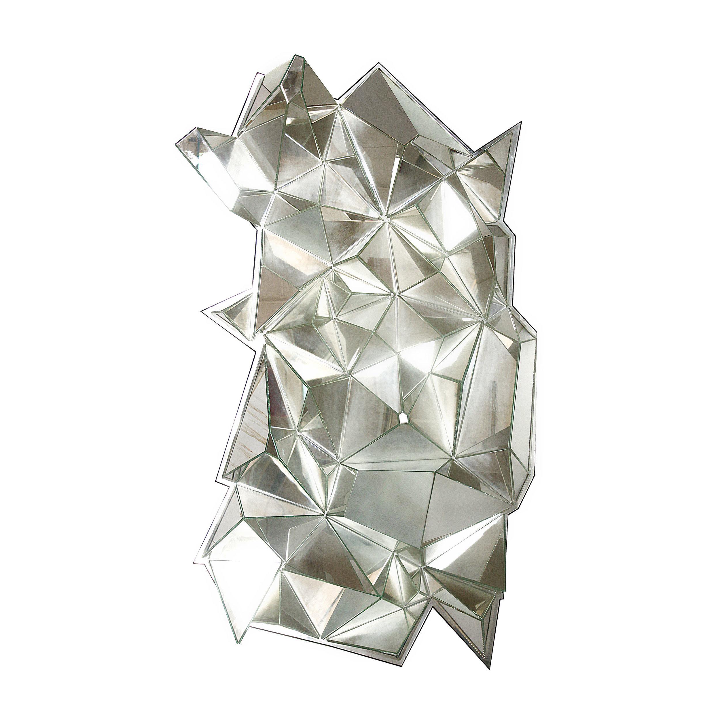 Artisan Multi-Faceted Decorative Mirror