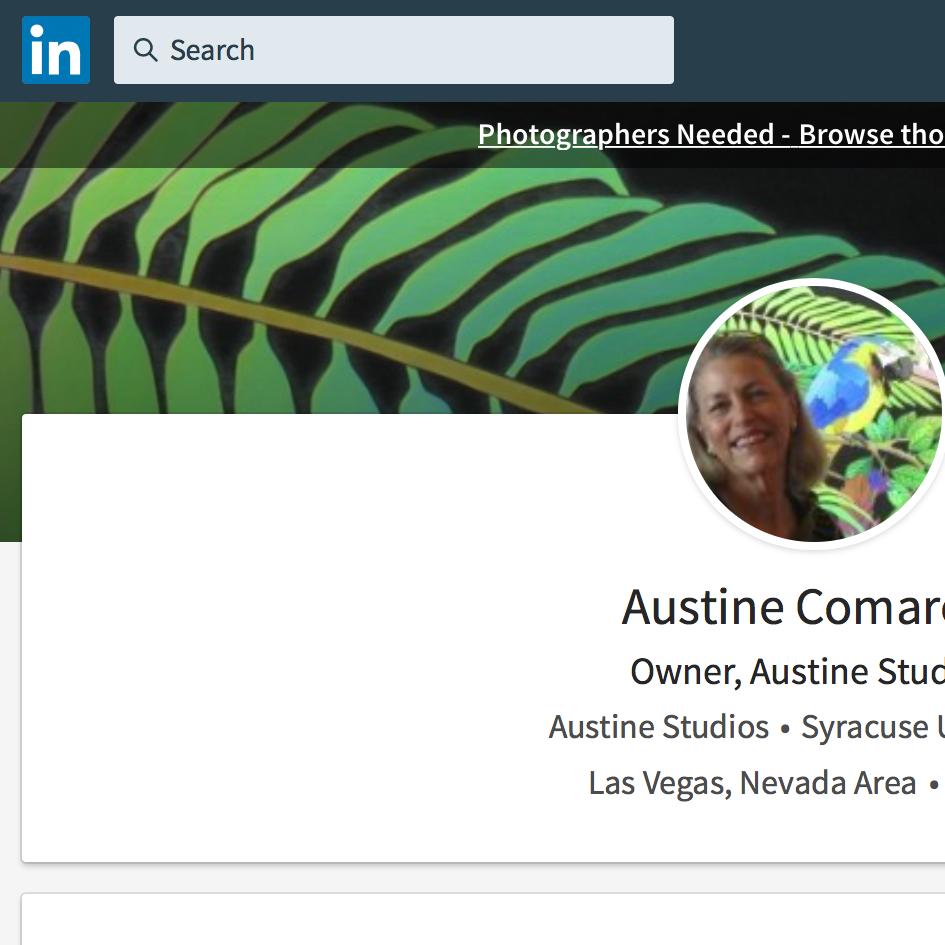 Linked In - linkedin.com/in/austine-comarow-7494294