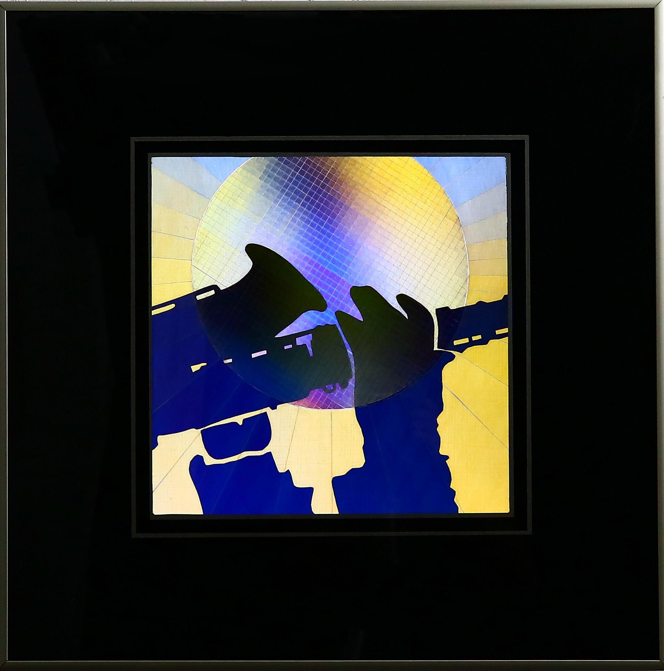 """Sax Hands, 20""""x20"""" framed"""