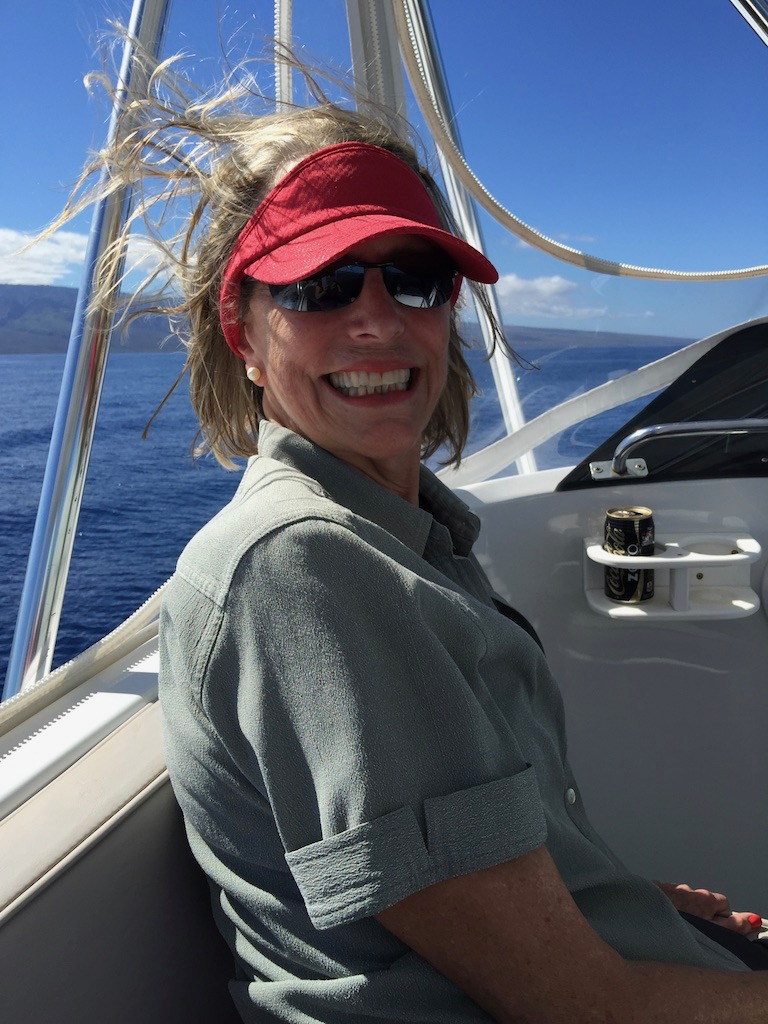 Austine wearing her Maui Jims in Maui!