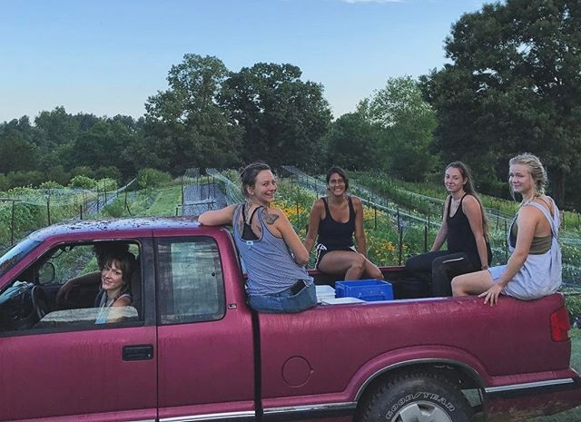 Our pink harvest truck