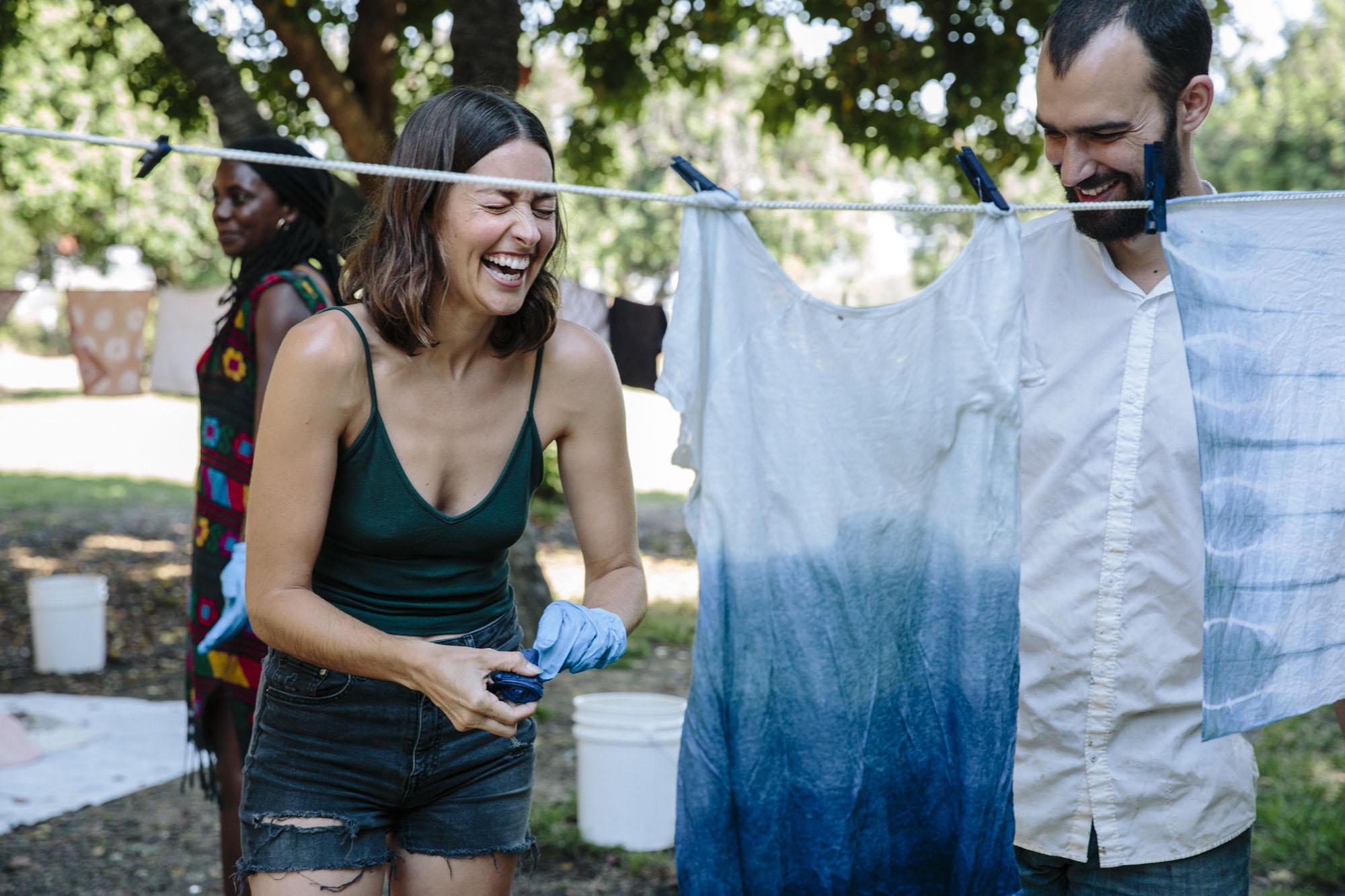 Graham Keegan Indigo Dyeing Workshop Clothesline Hanging.jpg