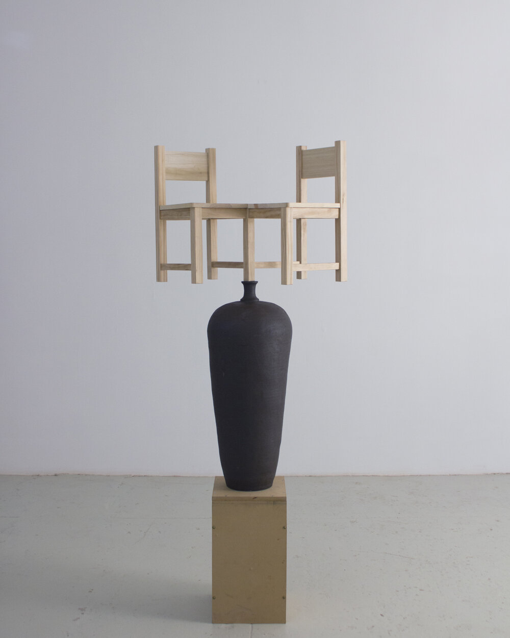 Ceramic, Wood  2019 - height with plinth 6'