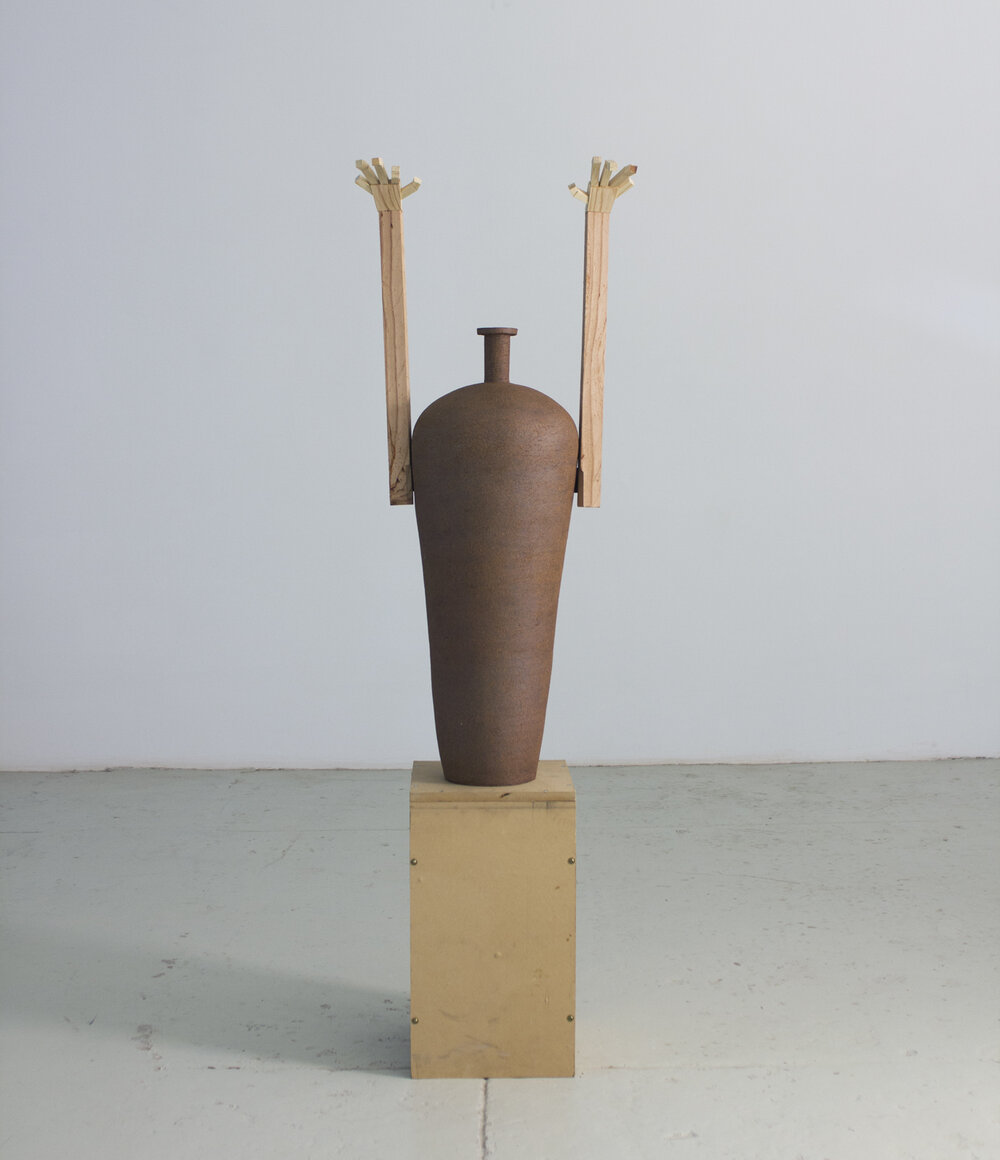 """Ceramic, wood, metal  2019 - Height with plinth 61"""""""