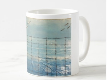 Mugs - Coffee mugs.I swim in negative capability. I accept uncertainty to let my creativity thrive.Colors: White, Blue, with painting prints$16 to $17