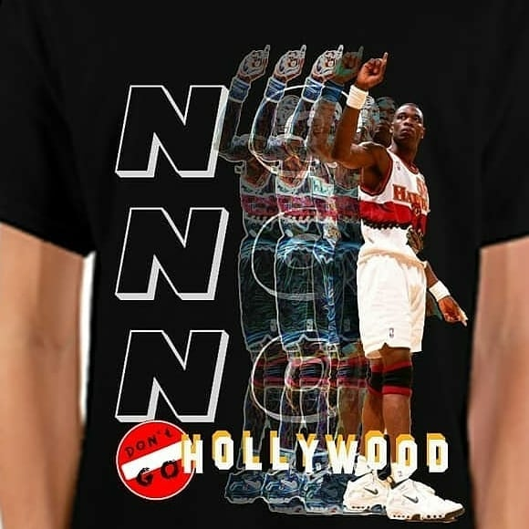 "Next up for the #dontgohollywood collection of #streetwear #tshirts is taking place in #atlanta @a3cfestival  Saturday 10/12 #trappinforthe99and2000s @thegatheringspots 9-2am And Monday 10/14 @controllerise  We have a #specialedition  #atlonly drop! ""NoNoNo"" featuring the infamous ""finger wag"" from @dofficialmutombo in the #highlightfactory @atlhawks  And our ""always in the field never in the hills"" featuring the legend #primetime @deionsanders and his dual baller status in the ""A"" on the @braves x @atlantafalcons  You can reserve a t-shirt tomorrow by @cashapp $Arsmag for $40. Contact @thetimeisars For sizes!"