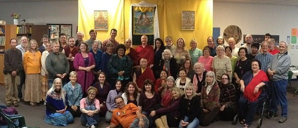 Bardor Tulku Rinpoche with friends and students in Phoenix, Arizona.
