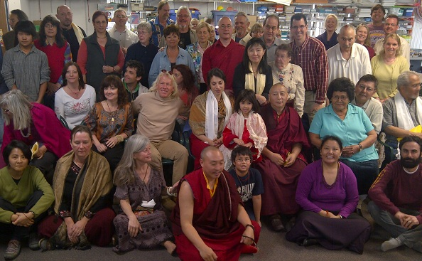 Bardor Tulku Rinpoche, his wife Sonam, Lama Tashi Topgyal and Lama Yeshe Gyamtso with friends and students in Phoenix, Arizona in February, 2012.