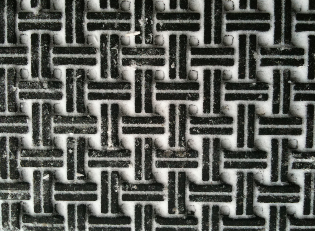 doormat in winter