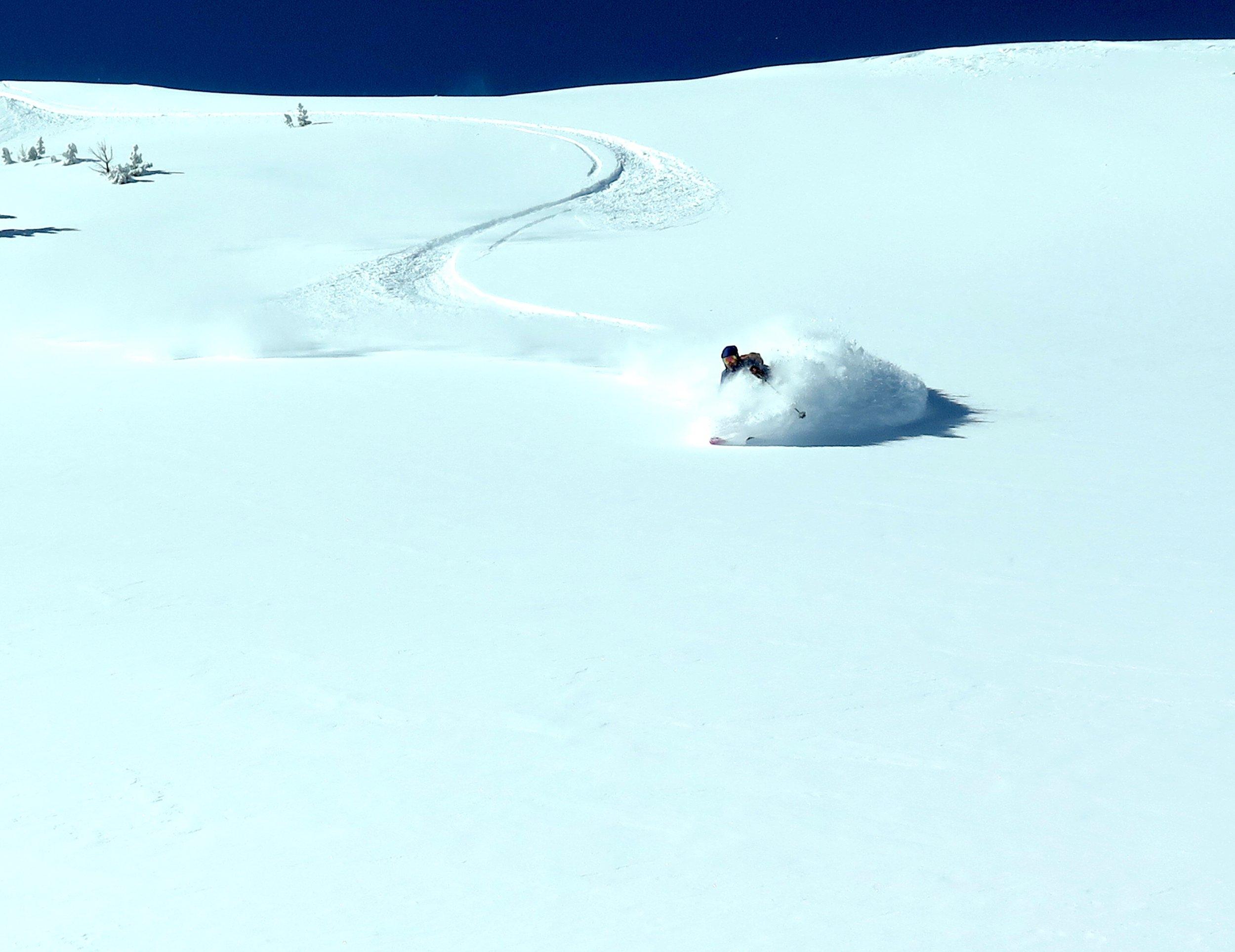 Big Sky backcountry powder skiing!