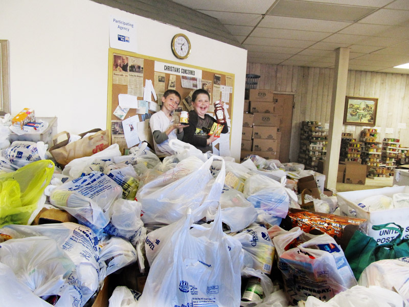 The annual Letter Carriers' Food Drive makes a significant contribution to the Christians Concerned pantry.
