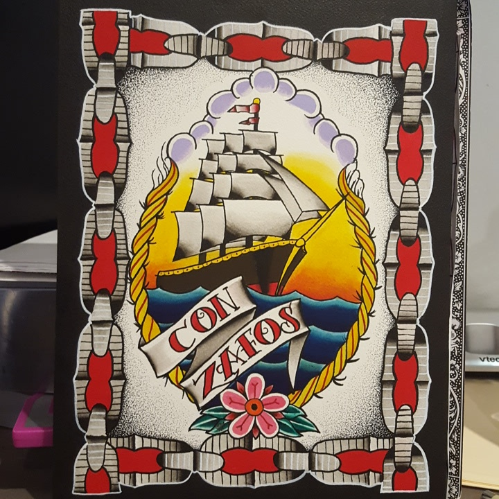 Original painting of Zafos. Clipper ship.