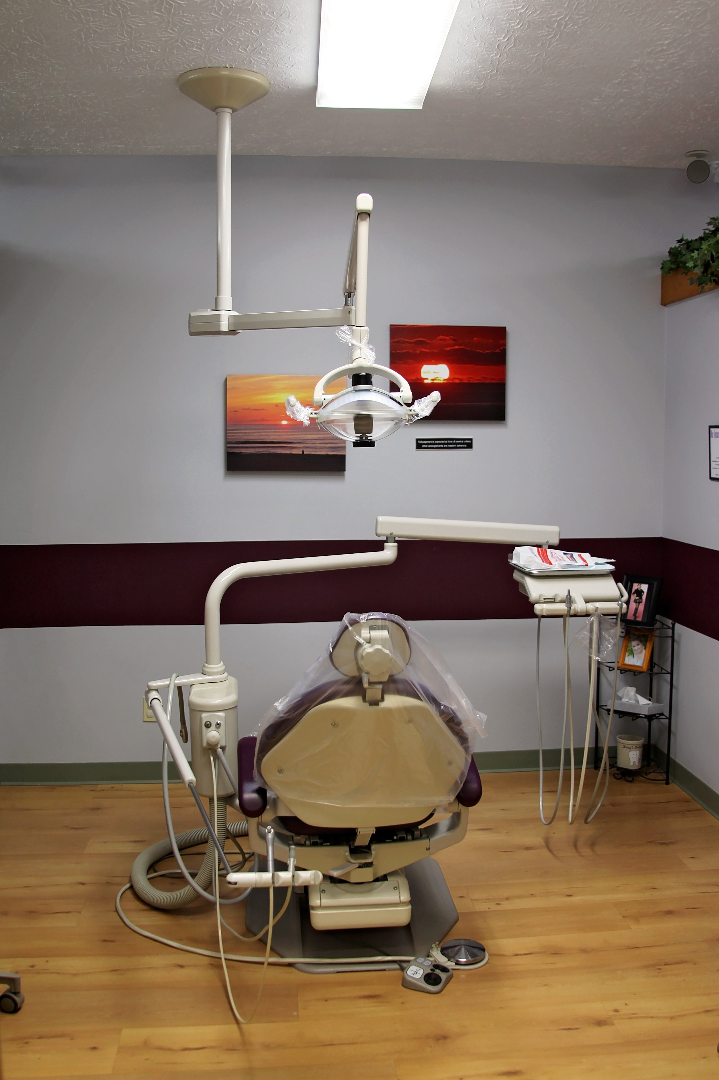 An operatory chair ready for the next patient at stacy davis dds llc