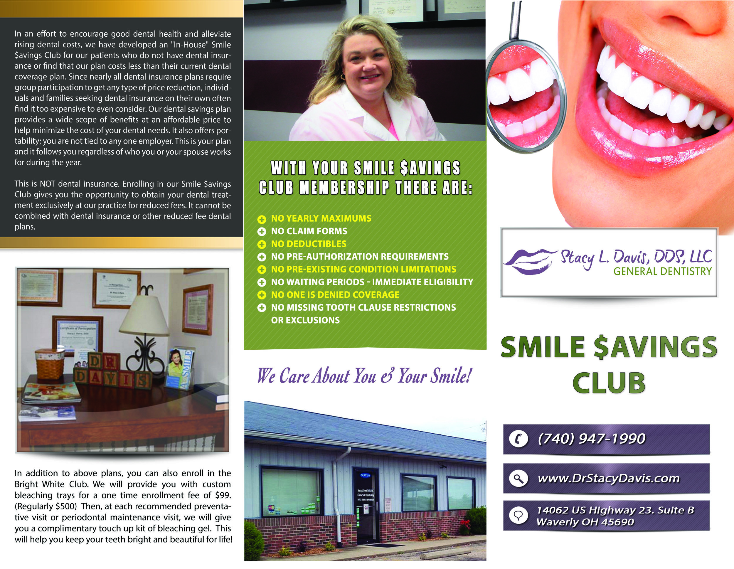 Smile $avings Club Brochure Front (Click to enlarge)
