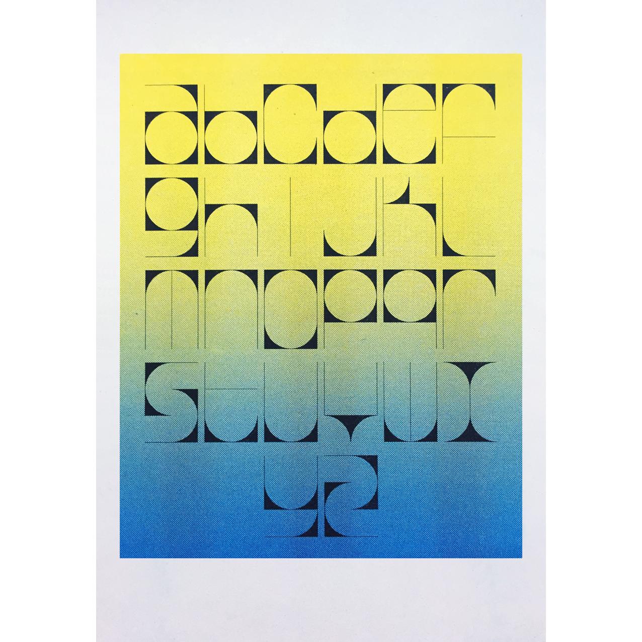corner cutter alphabet (blue)