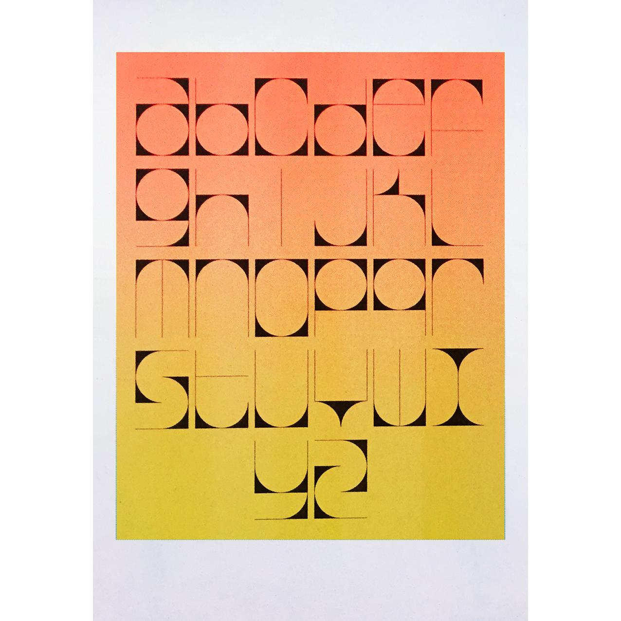 corner cutter alphabet (orange)