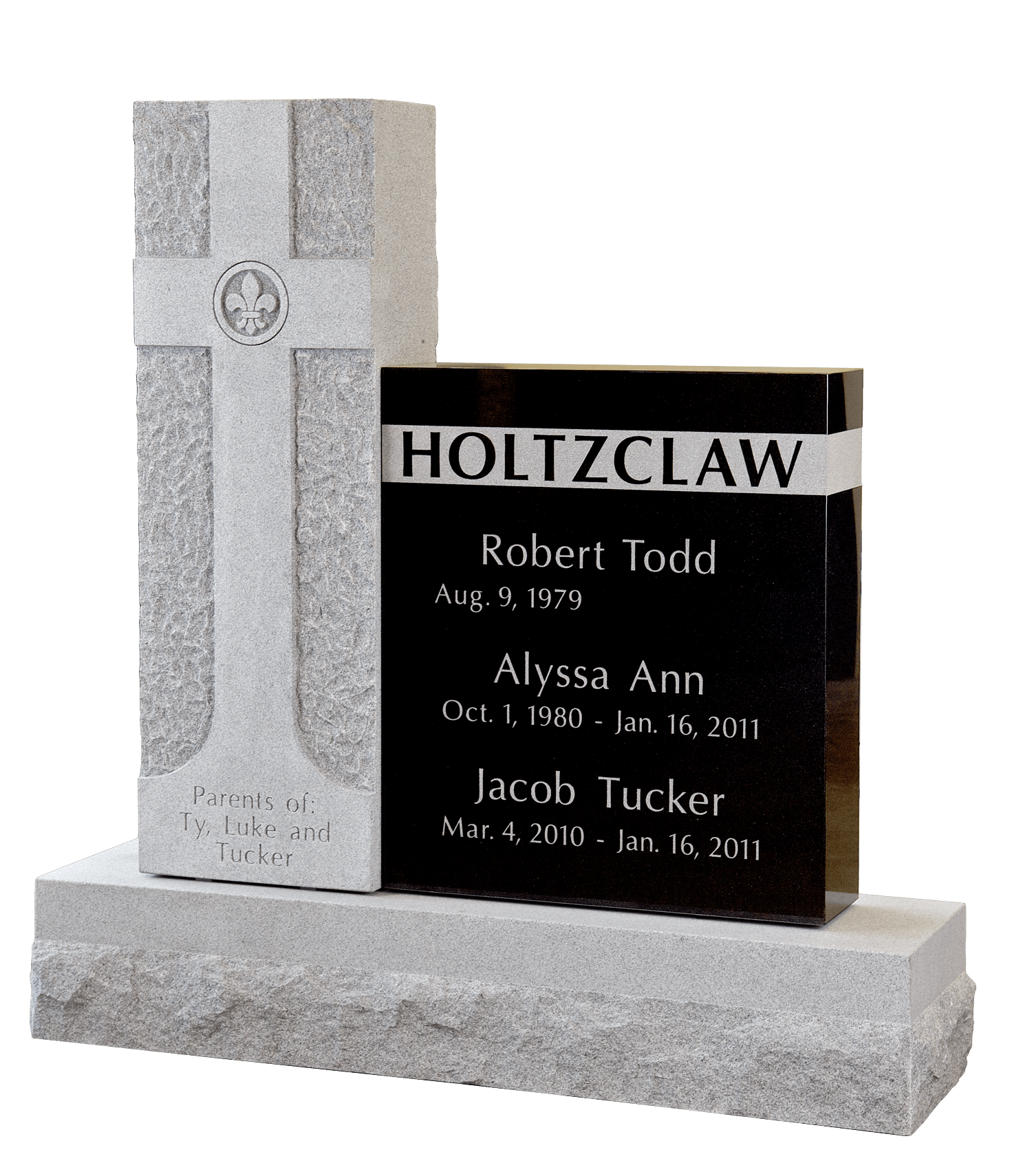 Holtzclaw headstone, Headstone in Magnolia Cemetery, Beaumont, TX