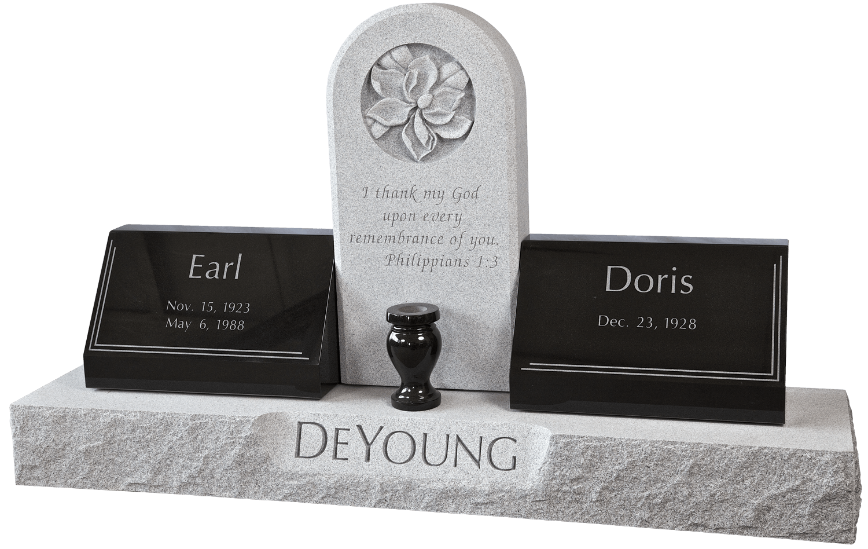 DeYoung headstone, Fairview Cemetery, Winnie, TX