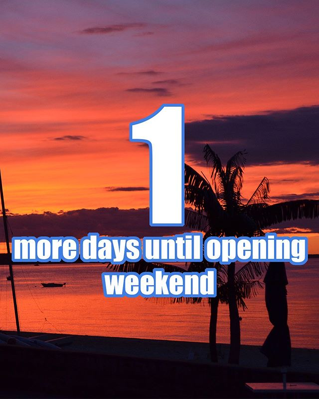 One more day!!!! We can't wait to see everyone this weekend! #countdowntosummer