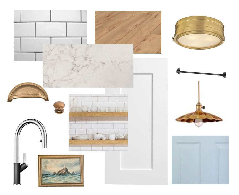Hardware  /  Faucet  /  Cabinets  /  Flooring  /  Flushmount  /  Pendant  /  Door Paint  /  Subway Tile  /  Quartz