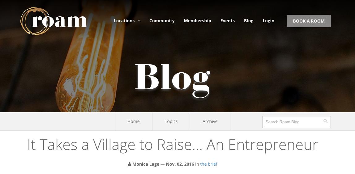 Roam Blog